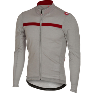 Castelli Costante Long Sleeve Jersey - Grey/Red
