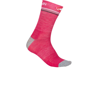 Castelli Atelier 13 Cycling Socks - Pink/Grey