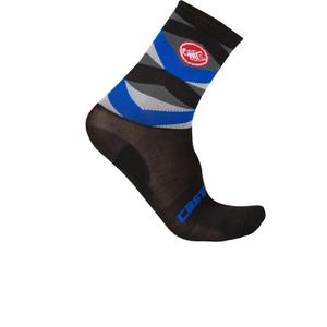 Castelli Fatto 12 Cycling Socks - Black/Blue
