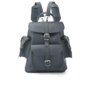 Grafea Women's Medium Leather Rucksack - Midnight Blue