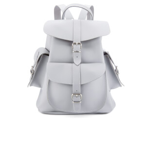 Grafea Women's Medium Leather Rucksack - Misty