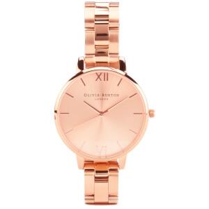 Olivia Burton Big Dial Bracelet Watch - Rose Gold