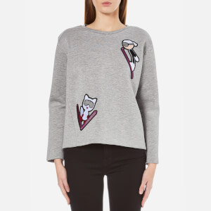Karl Lagerfeld Women's Karl Ski Patches Sweatshirt - Grey