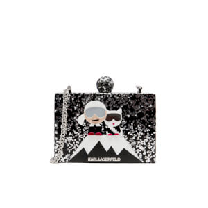 Karl Lagerfeld Women's Holiday Iceberg Minaudiere Bag - Black