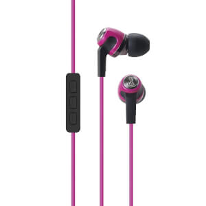 Audio-Technica Sonic Fuel Earphones with Mic - Pink