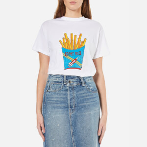 Ganni Women's Berkeley Rocket Fries T-Shirt - Bright White