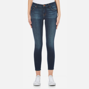 J Brand Women's Mid Rise Cross Hatch Super Stretch Capri Skinny Jeans - Sublime