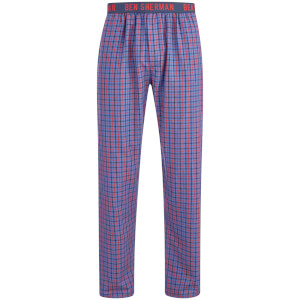 Ben Sherman Men's Check Scot Lounge Pants - Navy/Red