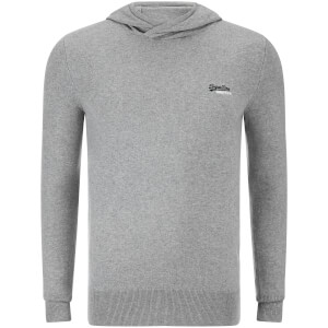 Superdry Men's Orange Label Knitted Hoody - Grey Marl