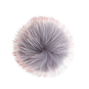 BKLYN Women's Pom Pom - Grey/Cherry