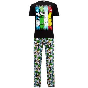 Marvel Men's Pyjama Set - Black