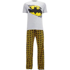DC Comics Men's Batman Pyjama Set - Grey Marl