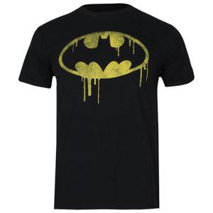DC Comics Boys' Batman Dripping Logo T-Shirt - Black