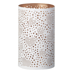 Parlane Zia Metal Candle Holder - White (12.5 x 20cm)