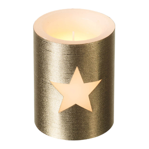Parlane Star LED Candle - Gold (10cm)