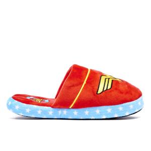 DC Comics Women's Wonder Woman Retro Slippers - Red - UK 5-7