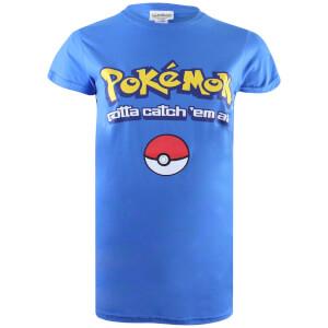 Pokemon Men's Gotta Catch Em All Logo T-Shirt - Royal Blue