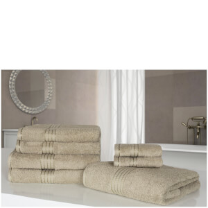 Highams 100% Egyptian Cotton 7 Piece Towel Bale - Natural