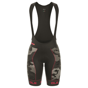 Alé Women's PRR Roubaix Camo Bib Shorts - Black/Red