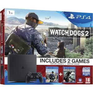 PS4 Slim 1TB + Watch Dogs + Watch Dogs 2 Bundle