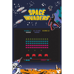 Space Invaders Screen Maxi Poster - 61 x 91.5cm