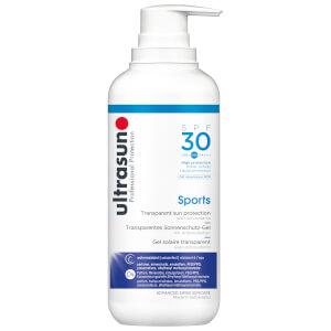 Ultrasun Transparent Sun Protection Sports Gel SPF30 400ml