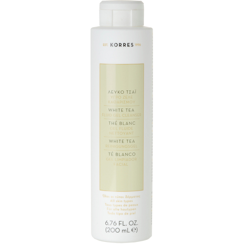 Korres White Tea Facial Fluid Gel Cleanser (200ml)