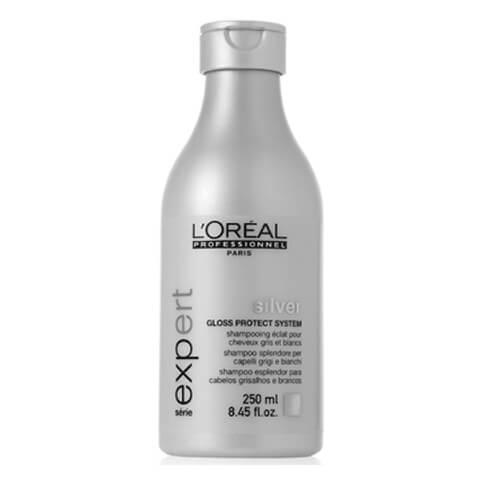 Champú brillo cabellos grises y blancos L'Oréal Série Expert Silver 250ml