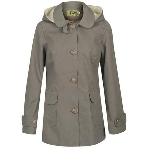byJAM Women's Emily Hooded Wool Coat - Khaki