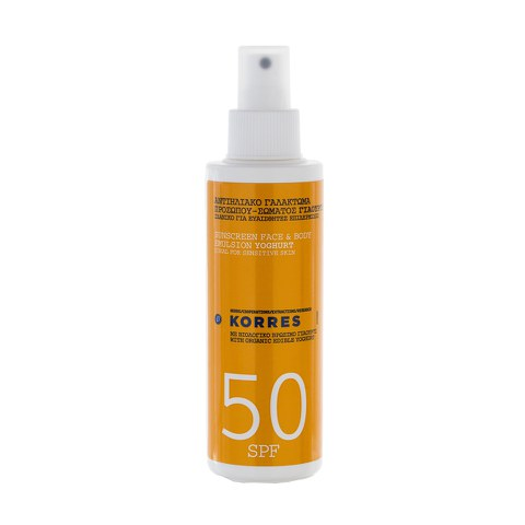 Korres Yoghurt Sunscreen Face and Body Emulsion SPF50 (150ml)