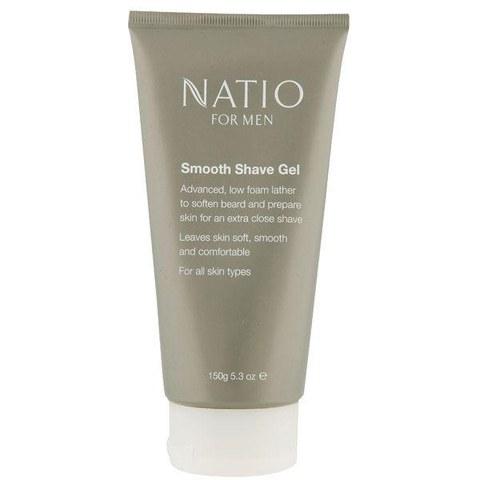 Gel suave de afeitar Natio Men (150g)