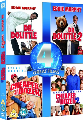 4 Great Films - Dr. Dolittle 1 and 2 / Cheaper by the Dozen 1 and 2