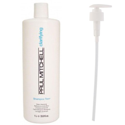 Paul Mitchell Shampoo Two (1000ml) with Pump (Bundle)