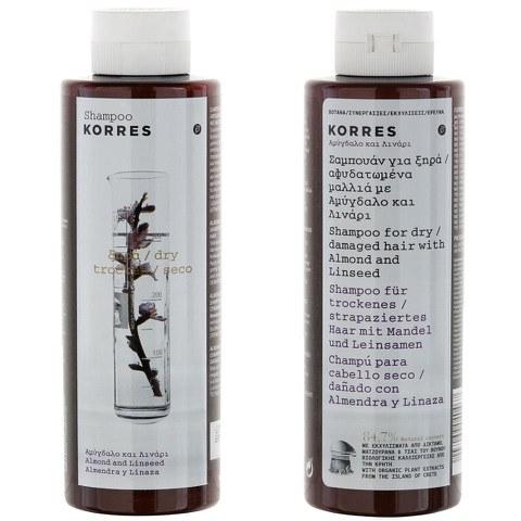 Korres ShampooMandel und Leinsamenfür trockenes/geschädigtes Haar(250ml)