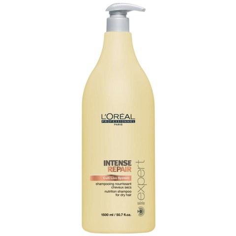 L'Oreal Professionnel Serie Expert Intense Repair Shampoo für geschädigtes Haar (1500ml) mit Pumpe