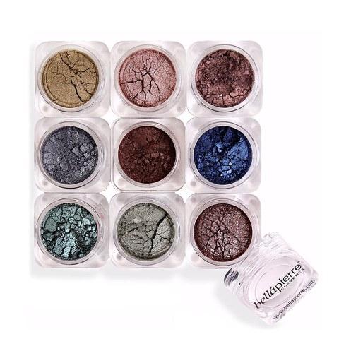 Sombras de ojos en polvo Bellapierre Cosmetics (9 unidades) Pandera