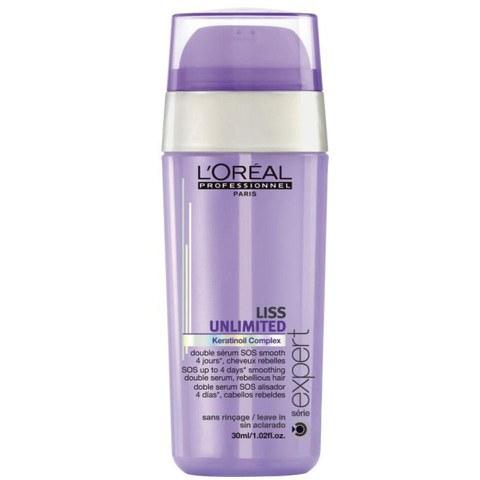 Double sérum SOS lissant sans rinçage L'Oréal Professionnel Série Expert Liss Unlimited (30ml)