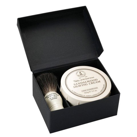 Kit brocha y crema de afeitar Taylor of Old Bond Street.