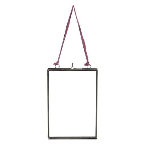 Nkuku Medium Kiko Glass Frame - Matt Grey - Portrait 5