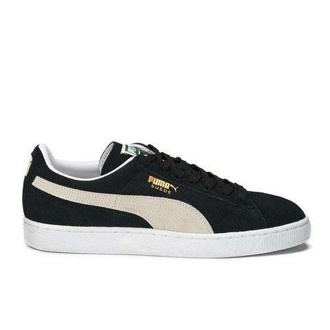 Puma Suede Classic + Trainers - Black/Team Gold/White