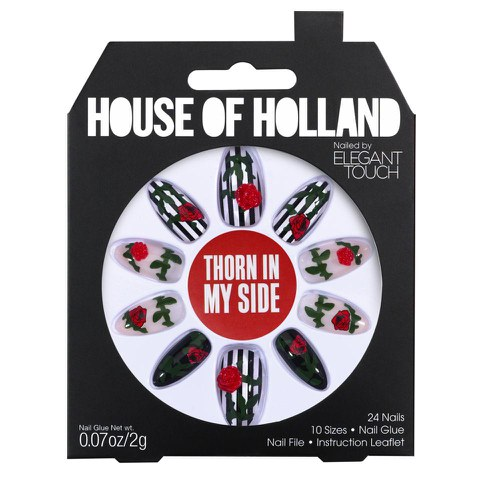 Uñas postizas House of Holland Nails Created by Elegant Touch - Thorn in my Side