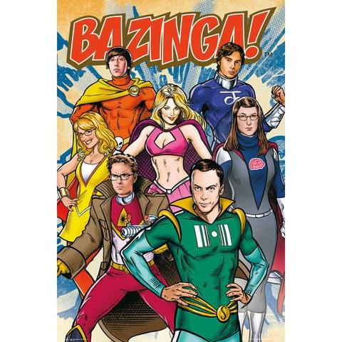 The Big Bang Theory Super Heroes - Maxi Poster - 61 x 91.5cm