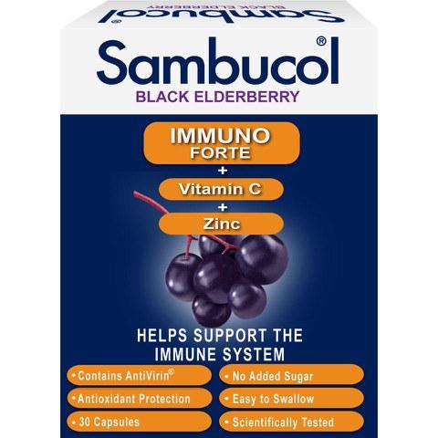 Sambucol Immuno Forte Capsules (30 Capsules)