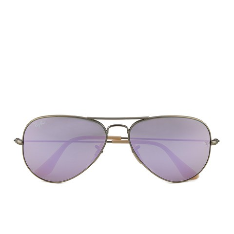 Ray-Ban Aviator Large Metal Sunglasses - Demiglos Brushed Bronze/Lilac Mirror - 58mm