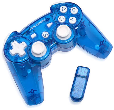 Rock Candy Blueberry Boom Wireless PS3 Controller