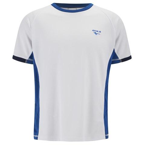Gola Men's Centenario Short Sleeve Training T-Shirt - White/Navy