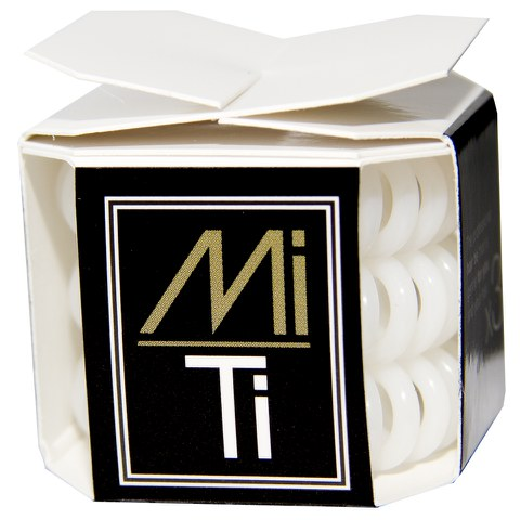MiTi Professional Hair Tie - Absolute White (3pc)