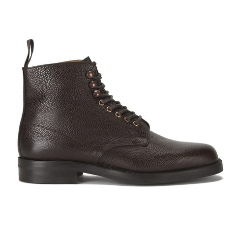 Private White VC X Cheaney Shoes Mens Eden Botton Boots - Walnut