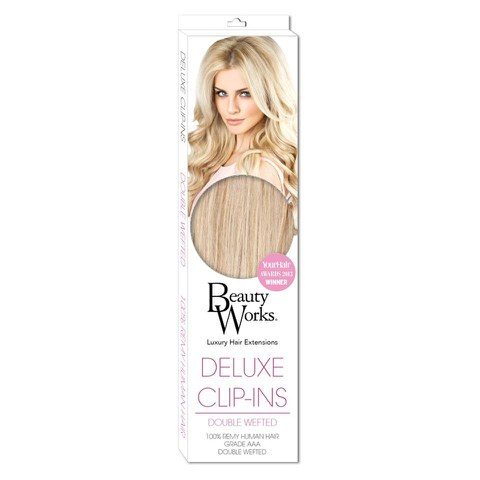 Beauty Works Deluxe Clip-In Hair Extensions 18 Inch - Vintage Blonde 60