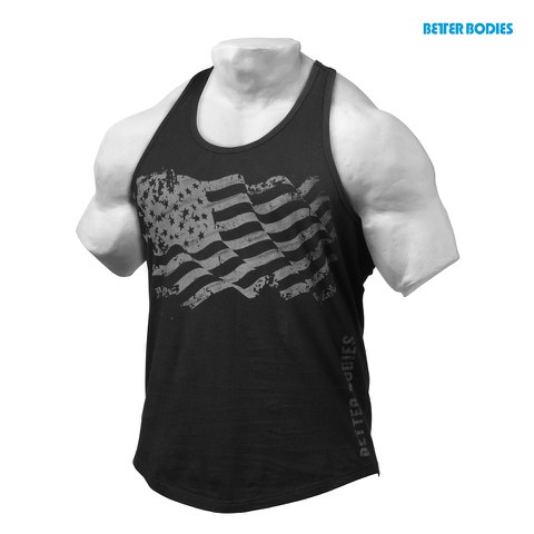 Better Bodies Gym T-Back Tank Top - Black